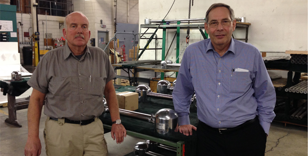 General Manager Bob Zimmerman and President Jim Wiens visit Frigid Fluid Company in Northlake, Illinois.